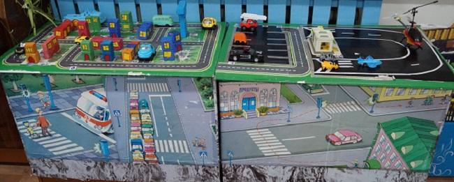 Макет дороги города